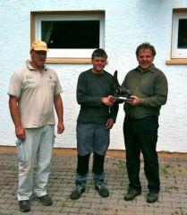 Gestifteter Pokal zum Hegefischen 2012